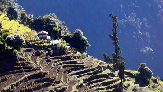 A view of the middle mountain landscape of Western Development Region of Nepal (©Udayan Mishra, ICIMOD)