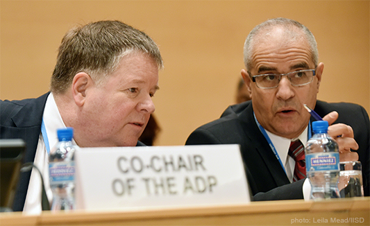 ADP 2-8: Co-chairs, photo: http://www.iisd.ca