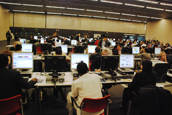 Full house at the computer centre