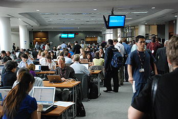A buzz of activity at the computer centre