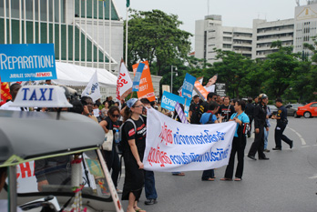 NGO rally in Bangkok calling for a strong climate deal
