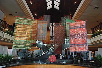 Balinese batik sarungs in the Convention Centre