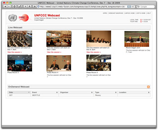 UNFCCC Live and On-demand webcast from COP 15