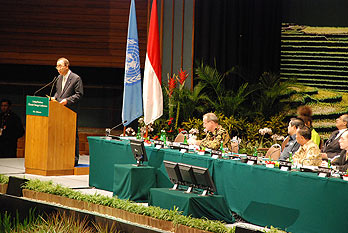 Ban Ki-moon delivers a special address to the conference, which went on for an extra day