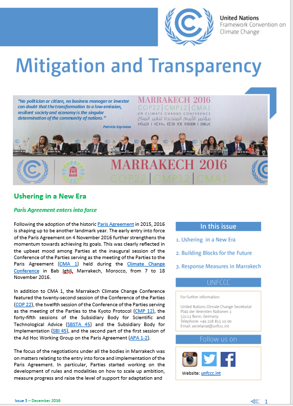 Mitigation and Transparency newsletter edition 3 screenshot
