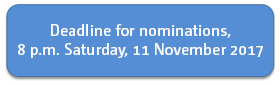 Deadline for nominations
