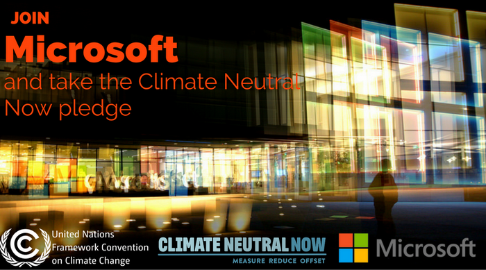 Climate Neutral Now Microsoft