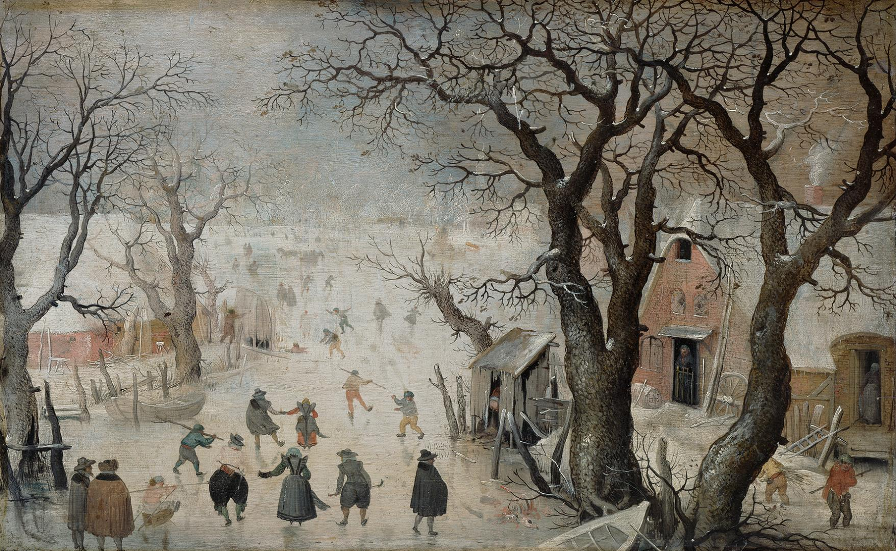 Hendrik Avercamp, Winter Landscape, 1605, Oil on oak wood, Kunsthistorisches Museum, Vienna, © KHM-Museumsverband – a memory of the time when winters in Europe were invariably cold.