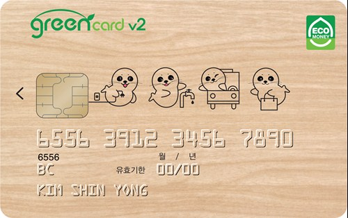 green credit card small
