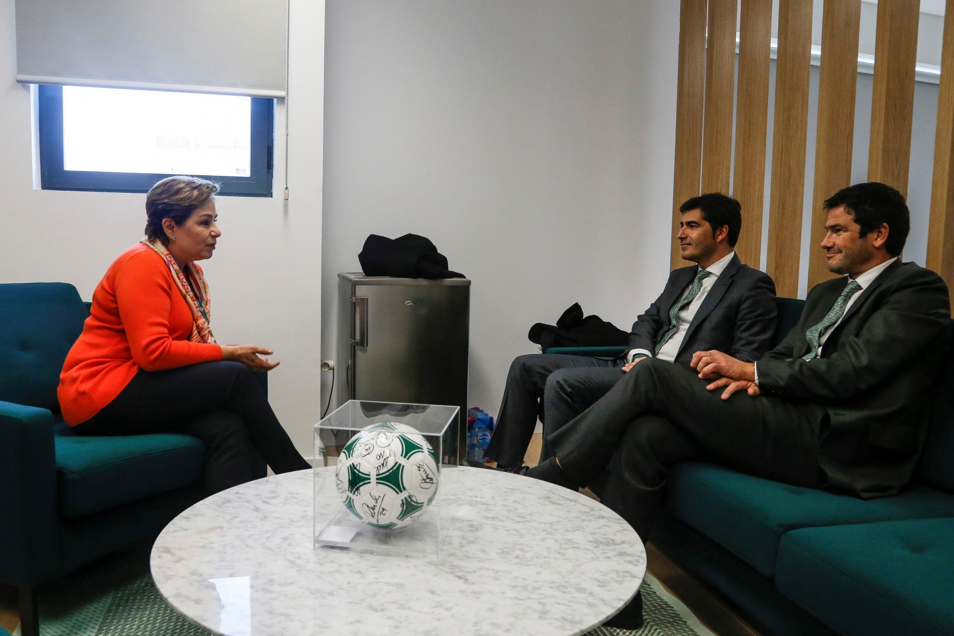 Real Betis Balompié in discussion with Patricia Espinosa UNFCCC Executive Secretary