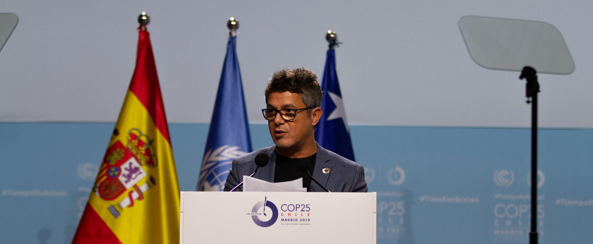 Alejandro Sanz at opening of COP25 high level segment
