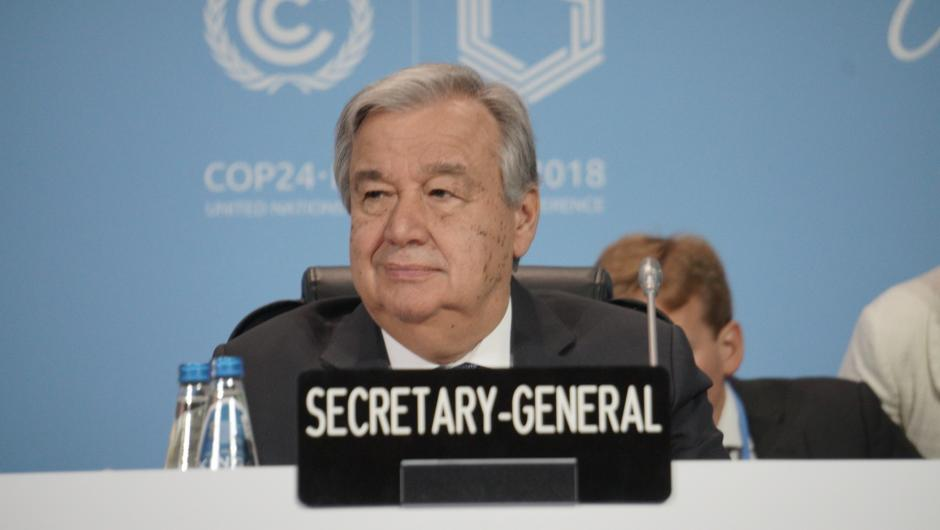 UN Secretary-General António Guterres at COP24 opening ceremony