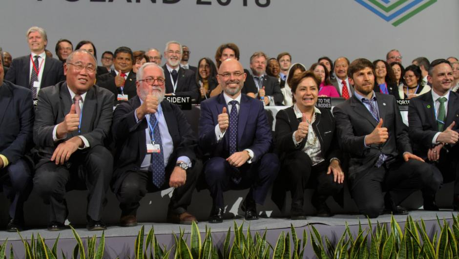 COP 24 closing moments - heads of negotiations pose for group photos