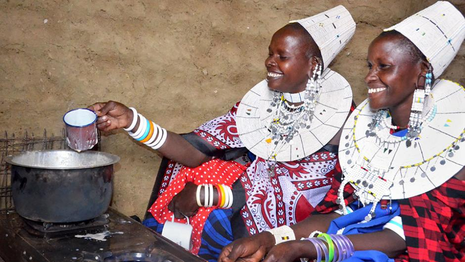 Women in biogas project in Tanzania